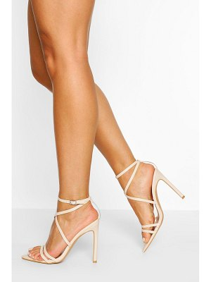 Boohoo Wide Width Pointed Toe Strappy Heel