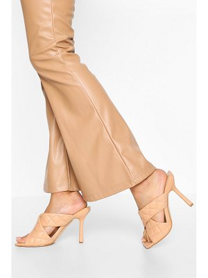 Boohoo Wide Width Quilted Cross Strap Mules