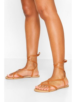 Boohoo Wide Width Strappy Basic Sandals