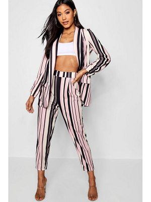 Boohoo Stripe Tapered Leg Trouser