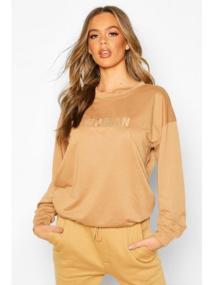 Boohoo Woman Embroidered Oversized Sweater