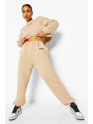 Boohoo Woman Embroidery Waffle Oversized Joggers