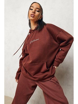 Boohoo Woman Oversized Embroidered Hoodie
