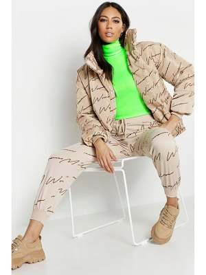 Boohoo Woman Printed Puffer Jacket
