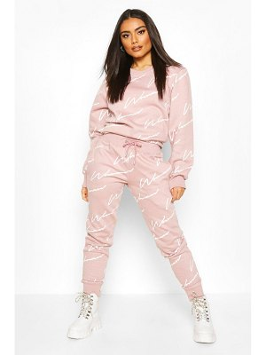 Boohoo Woman Signature Sweater Tracksuit