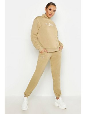 Boohoo Woman Slogan Cuff Bottom Jogger