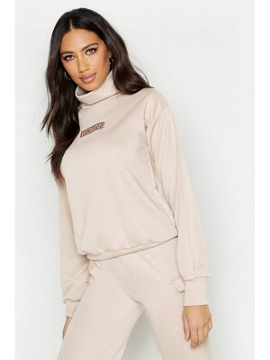 Boohoo Woman Slogan Neck Sweat