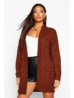 Boohoo Cable Knit Chunky Longline Cardigan