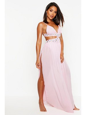 Boohoo Jewelled Maxi Beach Dress