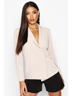Boohoo Lightweight Double Breasted Blazer