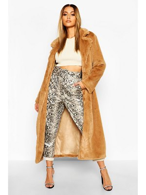 Boohoo Maxi Faux Fur Coat