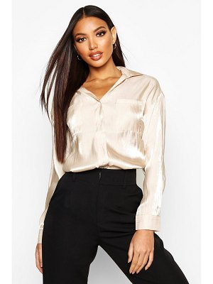 Boohoo Metallic Pocket Detail Shirt