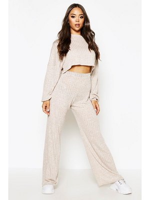 Boohoo Oversized Slouch Crop Top&Wide Pants Two-Piece Set