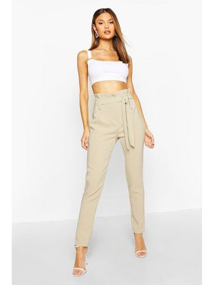 Boohoo Paperbag Belted Woven Trouser