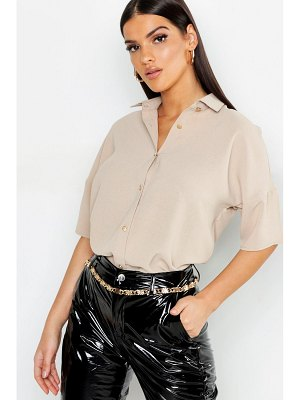 Boohoo Woven Button Down Blouse