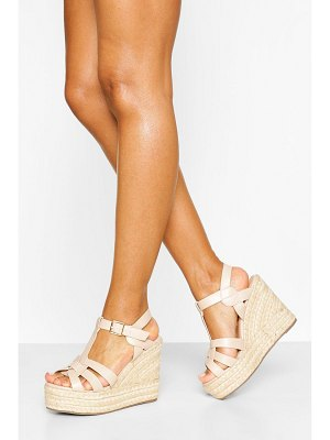 Boohoo Woven Front Espadrille Wedge