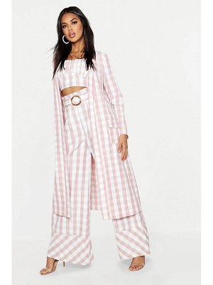 Boohoo Woven Gingham Longline Duster