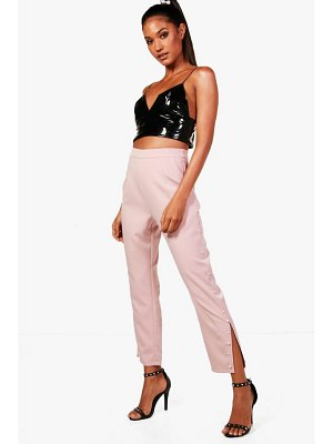 Boohoo Woven Pearl Detail Trousers