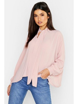 Boohoo Woven Pussy Bow Blouse