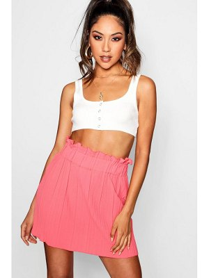 Boohoo Woven Pleated Mini Skirt