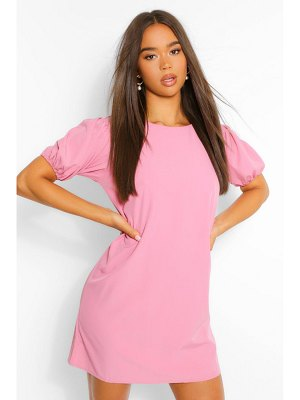 Boohoo Woven Puff Sleeve Shift Dress