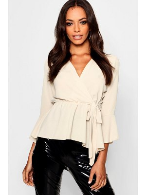 Boohoo Wrap Over Tie Blouse
