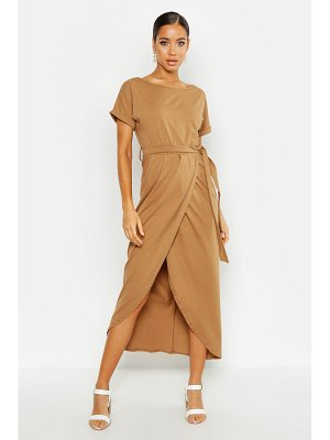 Boohoo Wrap T Shirt Maxi Dress