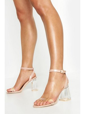 Boohoo Wrap Up Clear Block Heels