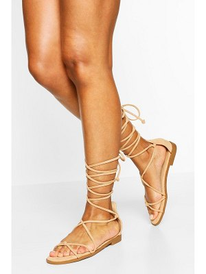 Boohoo Wrap Up Strappy Sandals