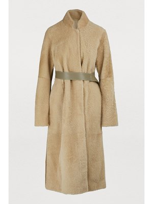 Boontheshop Shearling reversible long coat
