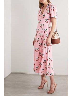 Borgo De Nor adelaide floral-print crepe midi dress