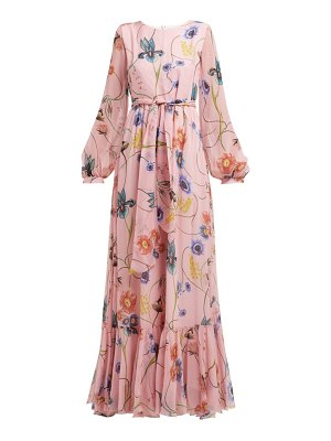 Borgo De Nor dianora floral print silk georgette maxi dress
