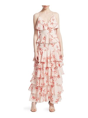 Borgo De Nor filipa floral tiered maxi gown