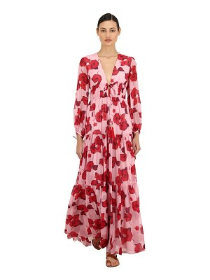 Borgo De Nor Floral print silk georgette maxi dress