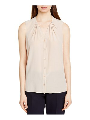 BOSS alia sleeveless silk blouse