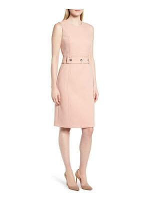BOSS Duleama Belted Sheath Dress
