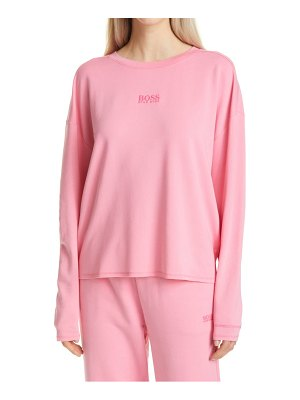 BOSS elina active relaxed fit sweatshirt