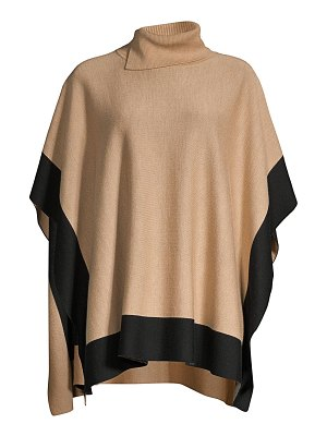 BOSS lisandra colorblock wool poncho