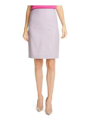 BOSS vikena wool pencil skirt