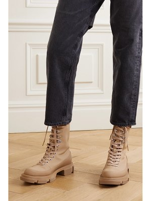 both gao lace-up rubber-trimmed canvas platform ankle boots