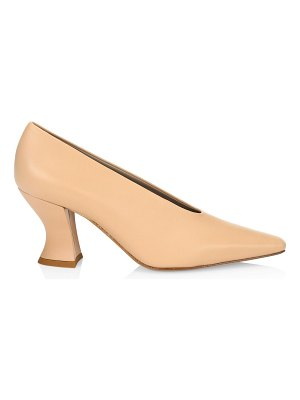 Bottega Veneta almond leather pumps