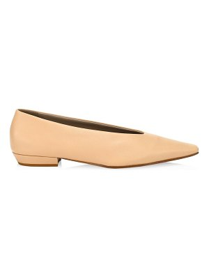 Bottega Veneta almond leather flats