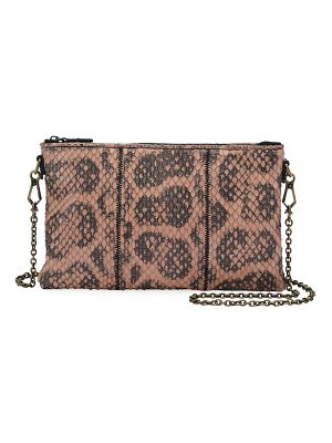 BOTTEGA VENETA Anaconda Zip-Top Crossbody Bag