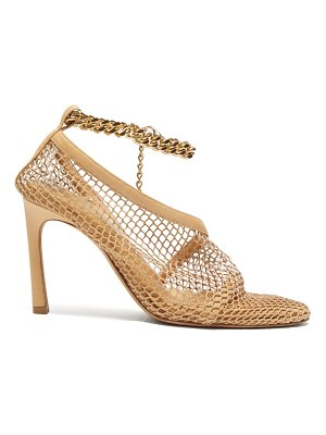 Bottega Veneta anklet-embellished mesh pumps