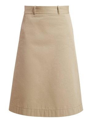 Bottega Veneta back button a line cotton skirt