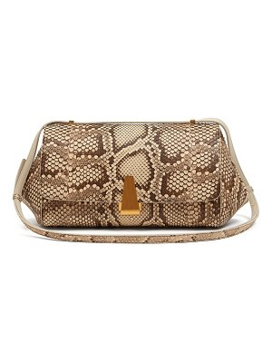 Bottega Veneta bv angle medium python shoulder bag