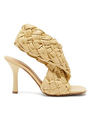 Bottega Veneta bv board intrecciato-weave leather sandals