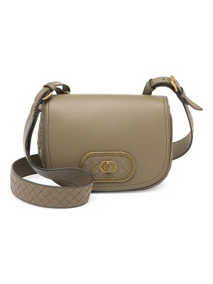 Bottega Veneta city knot leather saddle bag