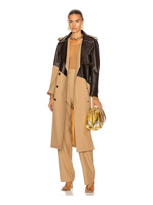 Bottega Veneta colorblock belted trench coat