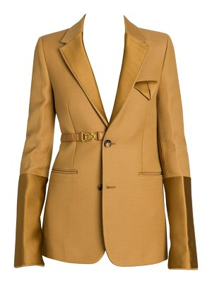 Bottega Veneta compact dry wool-blend belted tuxedo jacket